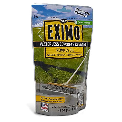 CAF Outdoor Cleaning EXIMO Waterless Concrete Cleaner 075 lbs for Driveway Garage Basement and Walkway Surfaces Advanced Stain Remover for Oils and Other Petroleum Stains
