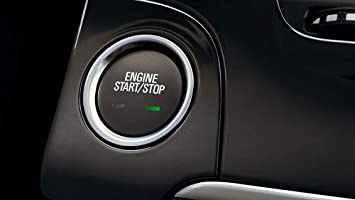 2pc Aluminum Ring//Cover Set eLoveQ Keyless Engine Push Start Button /& Surrounding Ring For Cadillac Chevy GMC etc Black