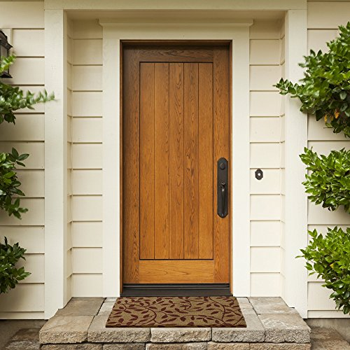 - Achim Home Furnishings PCM1830LV6 Leaves Printed Coir Door Mat, 18