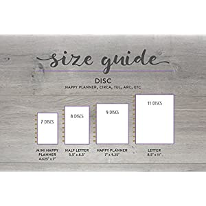 "2018 Monthly Calendar for Disc-Bound Planners, Fits Circa Letter, Arc by Staples, TUL by Office Depot, Letter Size 8.5""x11"" (Planner Not Included)"