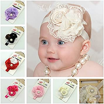 1 Piece White Baby Headbands Cute Princess Hairbands Kids Children Girls  Hair Accessories Lace   Chiffon 1196e0877d5