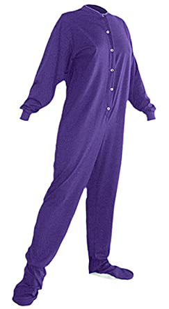 Amazon.com: Big Feet PJs Purple Knit Footed Pajamas for Men and ...