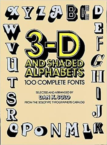 3 d and shaded alphabets dover pictorial archive series