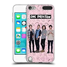 Official One Direction Pink Group Icon Soft Gel Case for Apple iPod Touch 5G 5th Gen
