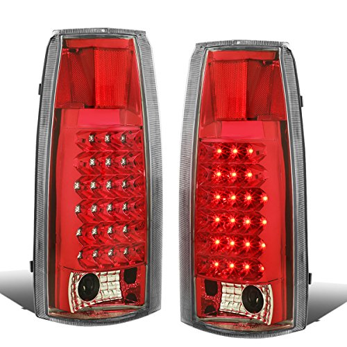 R30 Reflector Set - DNA TL-C10-LED-CH-RD Chevy C/K Series Chrome Red Lens LED Tail Light