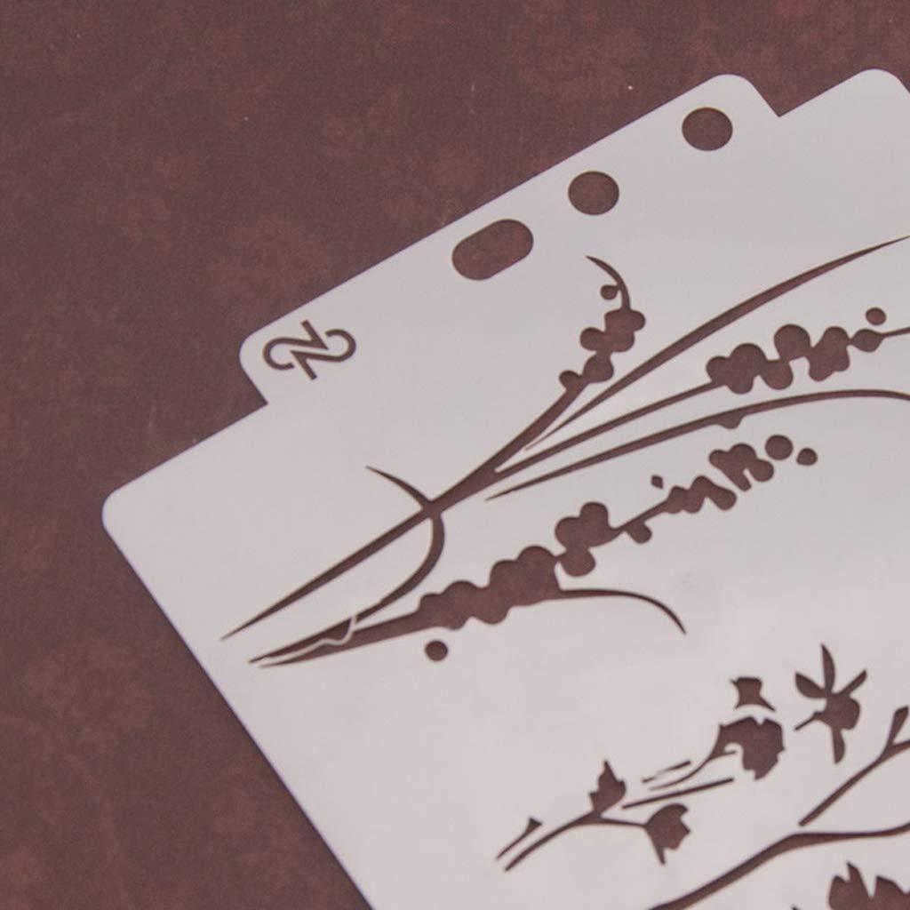 LANDUM Plantilla de Pintura Plantillas Plantilla Pintura de Pared Scrapbooking Estampaci/ón Tarjeta de creaci/ón de /álbum S17
