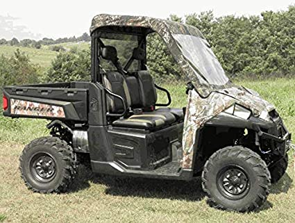 Polaris Ranger Diesel >> 2015 2019 Polaris Ranger Diesel Soft Windshield Top And Rear Window With Pro Fit Cage Gcl