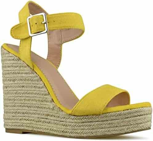 e7922001b37 Premier Standard - Women s Peep Toe Front Zipper Espadrille Wedge Sandals