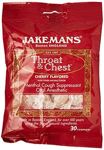 Jakemans Cherry Throat & Chest Lozenge Bag