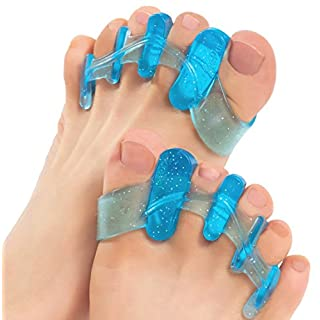 ToePal: Gel Toe Separator & Toe Stretcher for Yoga, Walking and Dancing. Instant Therapeutic Bunion Relief, Toe Alignment for Women and Men