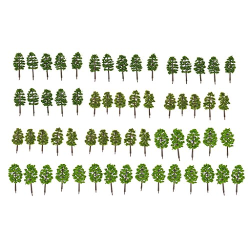 60pcs Woodland scenics Trees Model Forest Making Accessories n Scale 1 150 Train Railway Railroad Scenery Diorama or Layout