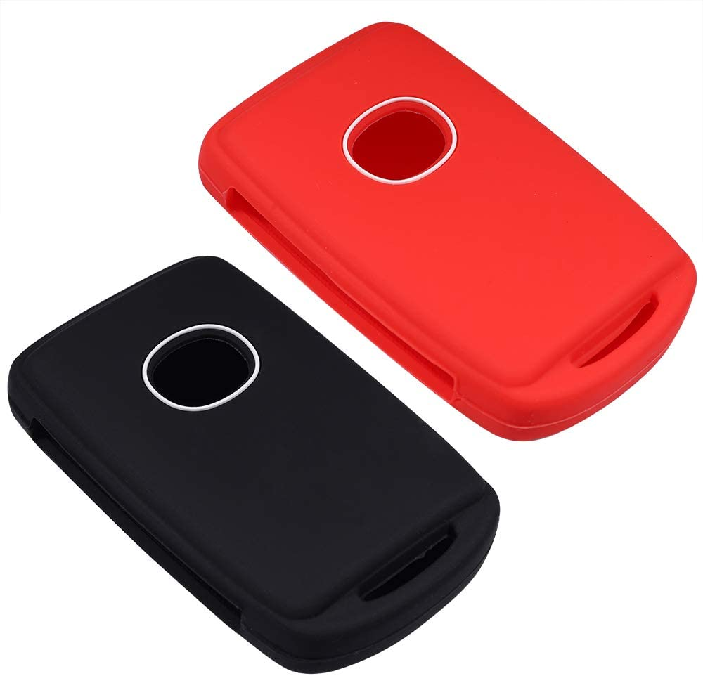 Black Black Lcyam Remote Key Fob Covers Durable Silicone Case Fits for 4 Keys on Side 2019 2020 Mazda 3 CX-30/CX-5 Mazda 6