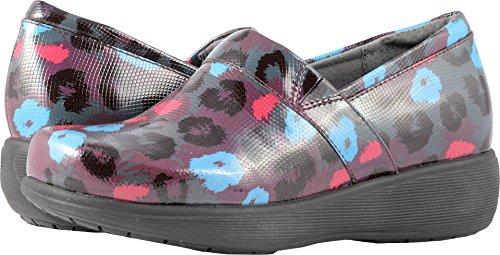 SoftWalk Frauen Meredith Clog Leopard abstrakt geprägtes Leder