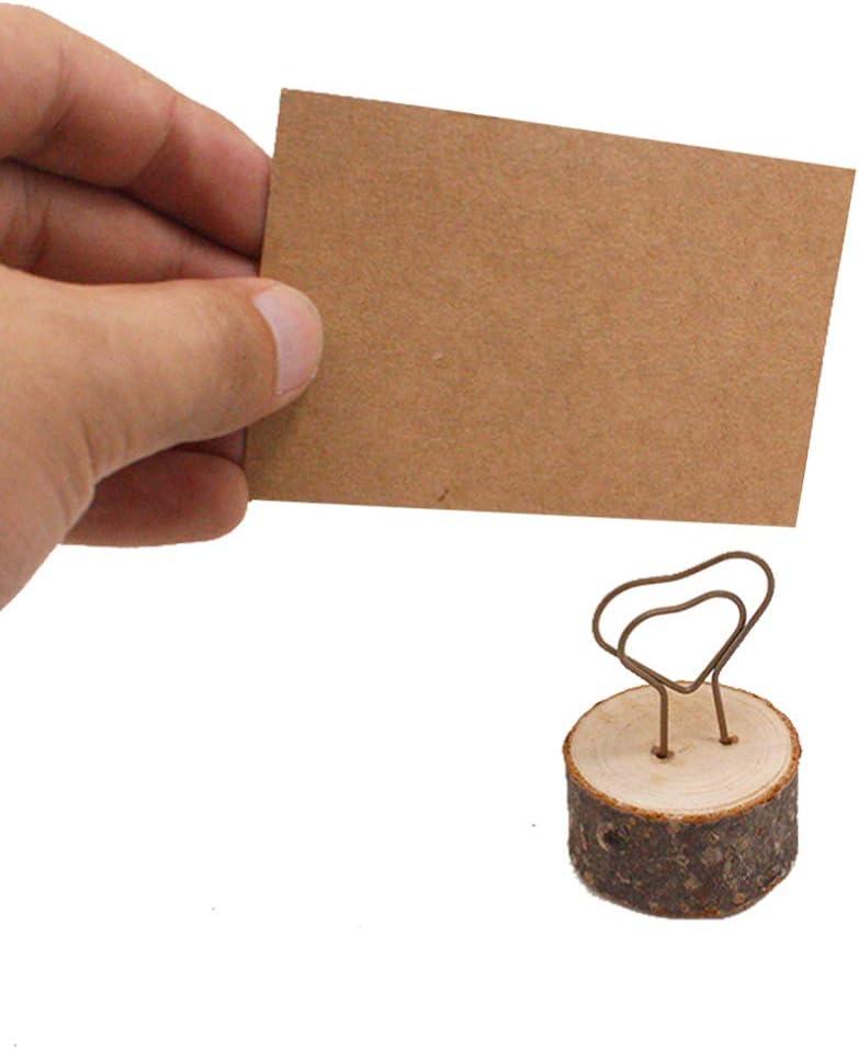 SUPVOX 10 Piezas Soporte para Tarjetas de Mesa de Coraz/ón Portafotos Pinza Portanotas Memo Clip Sostenedor de Fotos