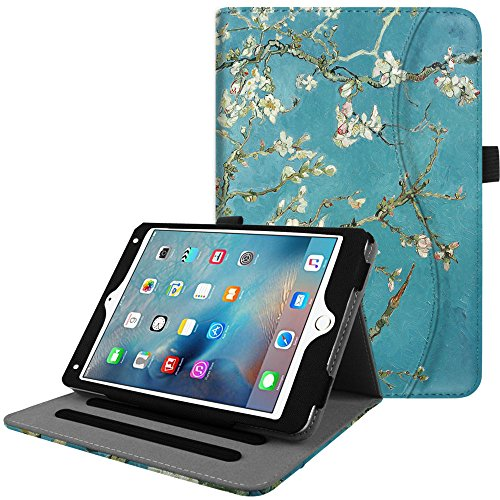 Fintie iPad Mini 4 Case [Corner Protection] - [Multi-Angle Viewing] Folio Smart Stand Protective Cover with Pocket, Supports Auto Wake/Sleep for Apple iPad Mini 4 (2015 Release), Blossom