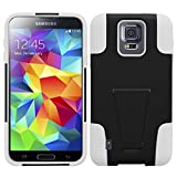 HR Wireless T-Stand Cover for Samsung S5 Active - Retail Packaging - Black/White
