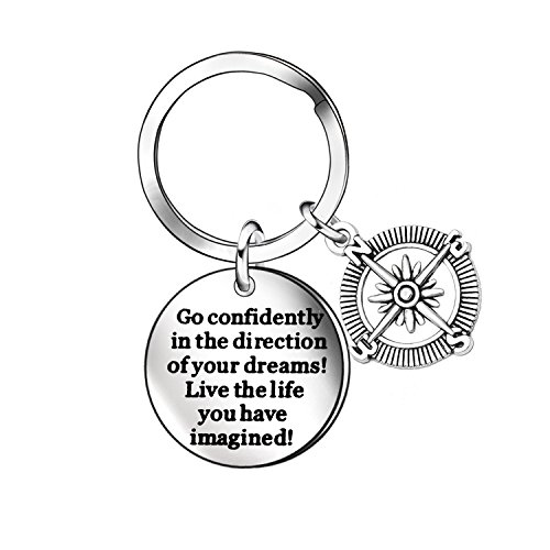 Inspirational Keychain Key Chain Ring Graduation Gift for sale  Delivered anywhere in Canada
