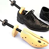 Shoe Stretcher Pair of Premium Professional 2-way Cedar Shoe Trees, Wooden Shoe Stretcher for Men or Women by Einfachheit (L)