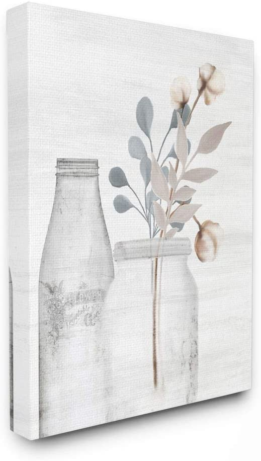 Stupell Industries Flower Jar Pink Blue Grey Painting Decorative Wall Hangings, 24 x 30, multi-color