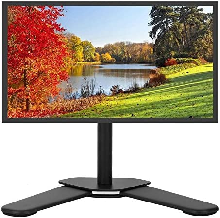 Vertical solo Monitor soporte de escritorio para pantalla plana TV Pantalla de sobremesa soporte para 13 – 27 pulgadas Pequeño televisor LCD monitores vertical solo Monitor pantalla soporte de escritorio para pantalla