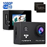 Underwater Action Camera By Funshare, Waterproof Sports Camera for Swimming, Cycling and Snorkelling, HD 1080P 12 Mega Pixels Resolution 170° Angle Lens Mountable Durable Batteries (Black)