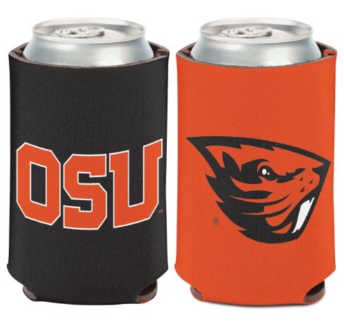 Beavers State Oregon Cooler - WinCraft NCAA Oregon State University Beavers 1 Pack 12 oz. 2-Sided Can Cooler