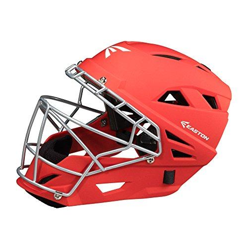 Easton M7 Grip Catchers Helmet, Red, Large
