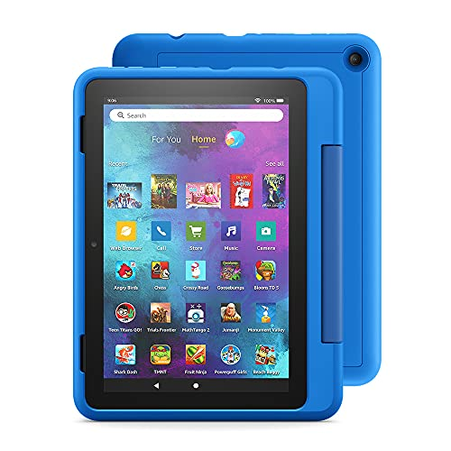 "Fire HD 8 Kids Pro tablet, 8"" HD (Sky Blue) with Kids Headset + Sleeve + Screen Protector"