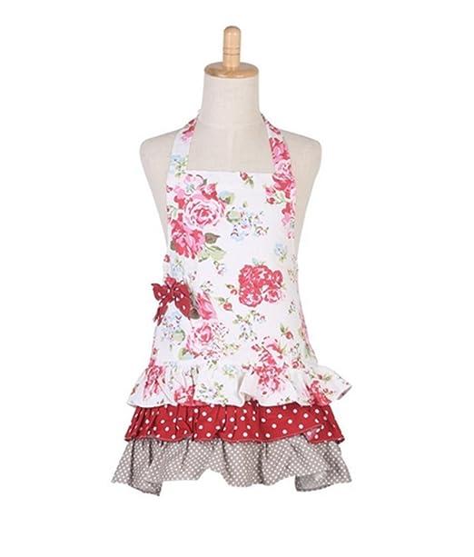 Diseño de algodón delantales para las mujeres patrones de niña ...