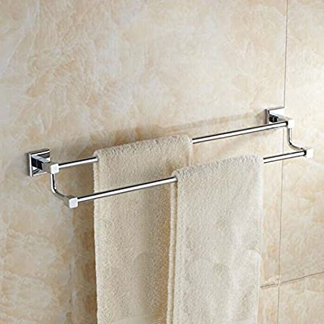 WDBM Cu Continental todos baño doble colgador de toallas: Amazon.es: Hogar