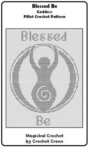 Filet Crochet Afghan Patterns (Blessed Be Goddess Fillet Crochet Afghan Pattern)