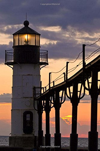 (St Joseph Lighthouse in Michigan at Dusk Journal: 150 page lined notebook/diary)