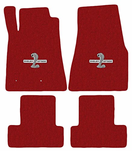 2005-2010 Mustang & Shelby Red Floor Mats with Cobra GT500 Logo (Lloyd Mats Ford Gt)
