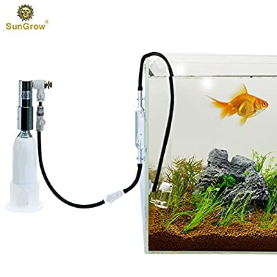 Rhinox CO2 Diffuser Set - Keep aquarium plants healthy with Co2 Resistant black aquarium tubing, Spio III & Nano Diffuser and Glass Reactor - Unclog diffusers & air stones with Rhinox Cleaner