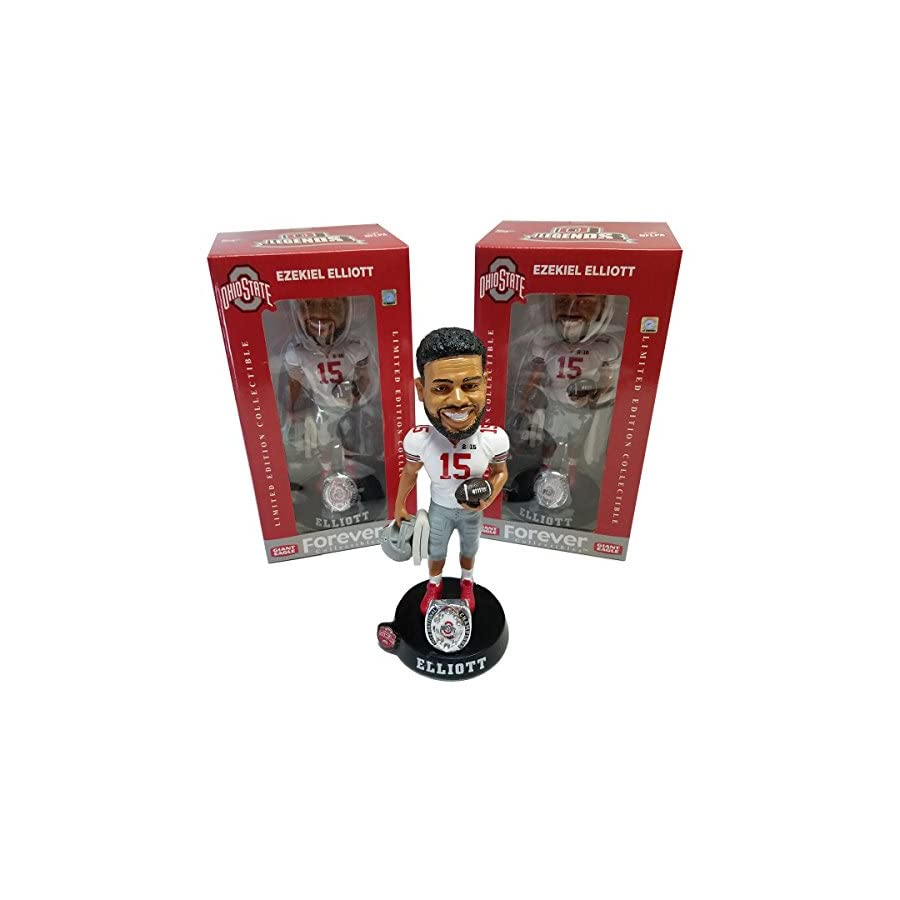 Ezekiel Elliott Ohio State Buckeyes Limited Edition Bobblehead 2014 National Champions Limited Edition Collectible