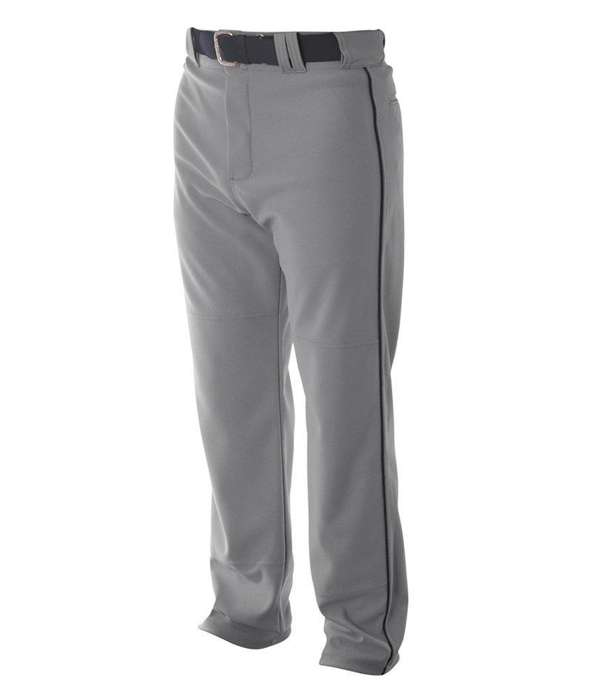 A4 野球用 バギーパンツ メンズ プロ仕様 パイピング入り B003M0KFKK L|グレー/ ブラック グレー/ ブラック L