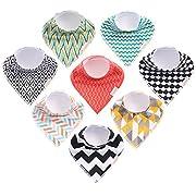 Nurniko Baby Bandana Drool Bibs | Fashionable Gender Neutral Baby Bibs Soft Organic Cotton Double Snap Closure Feeding & Teething Set of 8