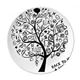 Cute Graffiti School Style Tree Silhouette Dessert Plate Decorative Porcelain 8 inch Dinner Home