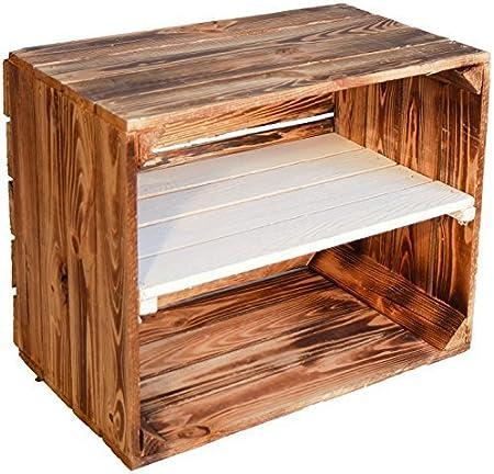 New Flameadas Solide Caisse De Fruits Johanna Avec Blanche Table Centrale Zwischenbrettern Env 50 X 40 X 30 Cm Etagere Pour Livres Schuhregalkiste