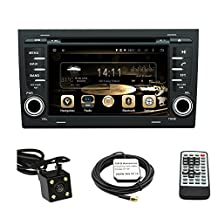 TLTek 7 inch HD 1024*600 Muti-touch Screen Car GPS Navigation System For Audi A4 2002-2008 Android DVD Player+Backup Camera+North America Map