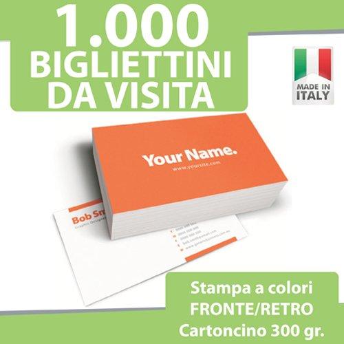 1000 BIGLIETTI DA VISITA Bigliettini STAMPA FRONTE RETRO a COLORI personalizzati printerland.it