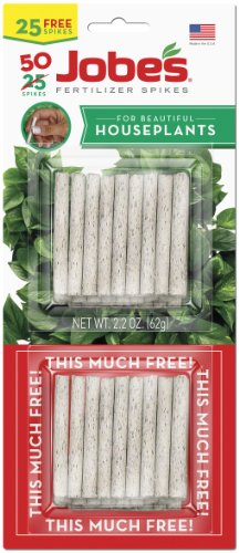 Jobe's 5001T Houseplant Indoor Fertilizer Food Spikes, 50 Pack (Fertilizer Jobes Spikes)