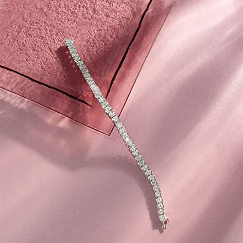 Ross-Simons 2.00 ct. t.w. Diamond Cluster Tennis Bracelet in Sterling Silver
