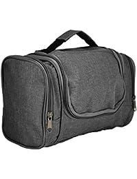 Travel Toiletry Kit Accessories Bag Organizer Case (Red Black Blue Black Green Purple Pink) (Charcoal Black)