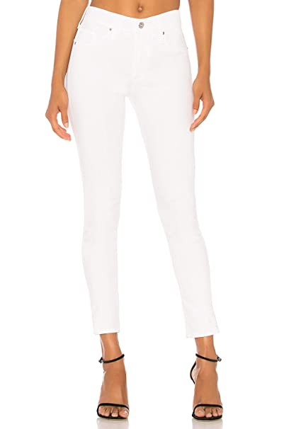 Mujer Vaqueros Ceñidos Básicos Slim Noos de Tiro Alto Blanco M