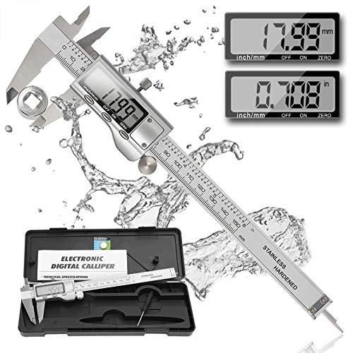 Digital Vernier Calipers Reexbon 150mm Vernier Calipers 0 6 Inch Mm Conversion Stainless Steel Vernier Calipers Precision Adjustment Depth Gauge Measuring Tool With Large Lcd Screen Amazon Co Uk Business Industry Science