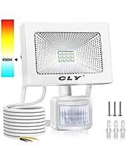 CLY LED Strahler mit Bewegungsmelder,LED Scheinwerfer Warmweiß IP66 Wasserdicht