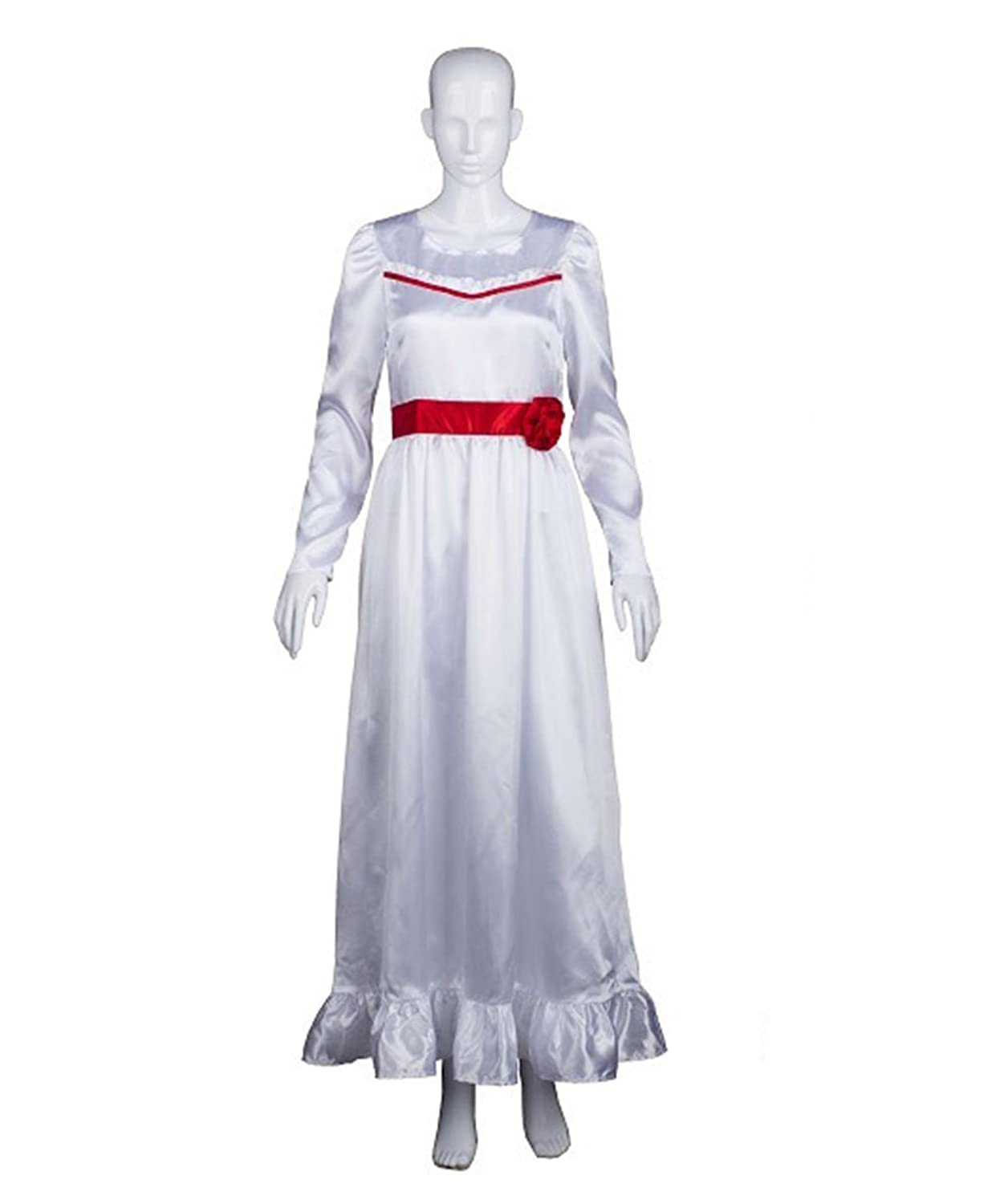 Halloween Party Online Annabelle Costume, White Adult HC-314
