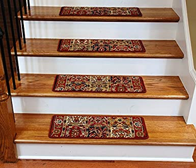 Delicieux Premium Carpet Stair Treads   Panel Red 13 Pack