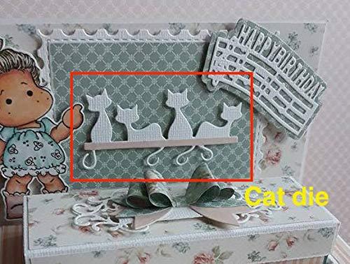 Alinacraft Metal Cut Cutting Dies Mold Tool Cat Back View Hook Halloween Scrapbooking Scrapbook Paper Craft Handmade DIY Card Album Punch Knife Art Cutter]()